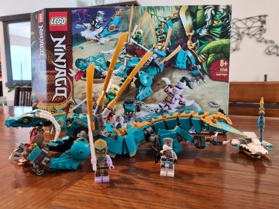 Lloyd's Jungle Dragon Season 14 lego ninjago built model